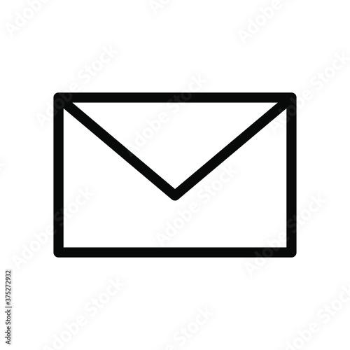 Fototapeta Email, mail contacting, communication Web Icon isolated on white background EPS