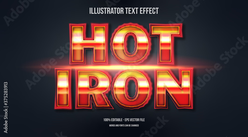 Hot Iron 3d text effect Canvas Print