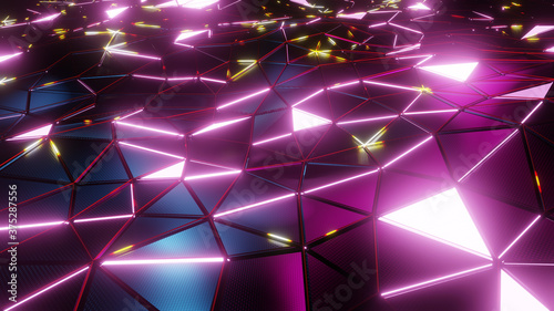 Photo 3D illustration Background for advertising and wallpaper in sci fi and technology innovation scene