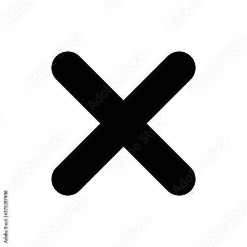 Fotografía Cross Icon. Cancel icon. Close icon.