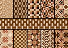 寄木細工のイラストレーター用パターン集
