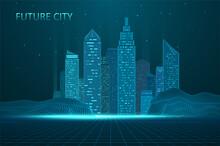 Future City Skyline Illustration