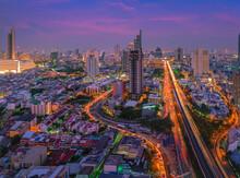 Bangkok Cityscape. View Of Tri...