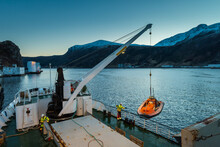 Unloading Cargo With Crane Fro...