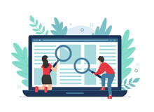 Search Concept For Landing Page With People Illustration