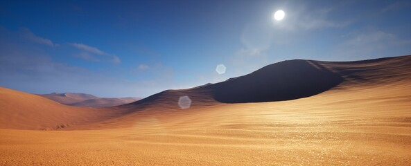 Beautiful Landscape view of desert in sunny day