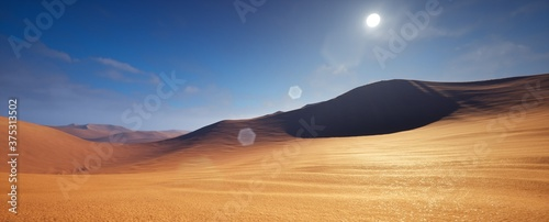 Fotografia Beautiful Landscape view of desert in sunny day