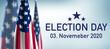 Leinwandbild Motiv Election 2020 USA
