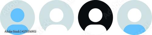 Photo profile, user icon, User profile login or access authentication icon, account si