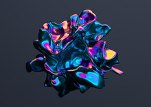 Abstract 3d Render, Colorful B...