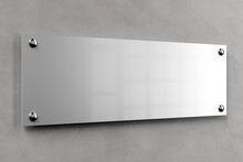 Metal Office Plate Mockup
