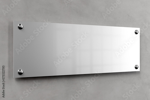 Carta da parati Metal office plate mockup