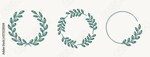 Fotografie, Obraz Set of laurel wreath design elements