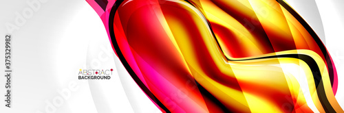 Foto Vector abstract background, flowing liquid style bubble with metallic, color qui