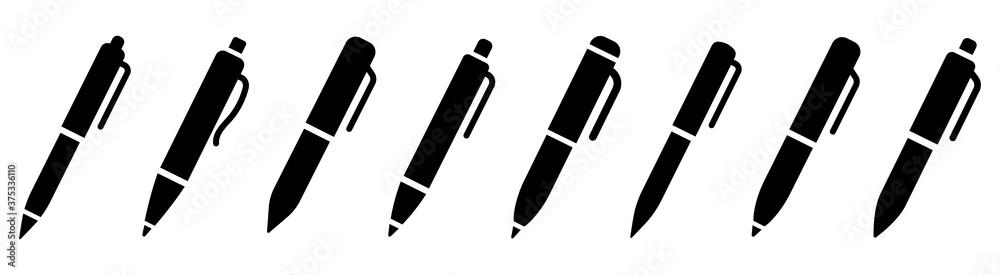 Fototapeta Pen simple icon set. Pen symbol collection. Vector illustration