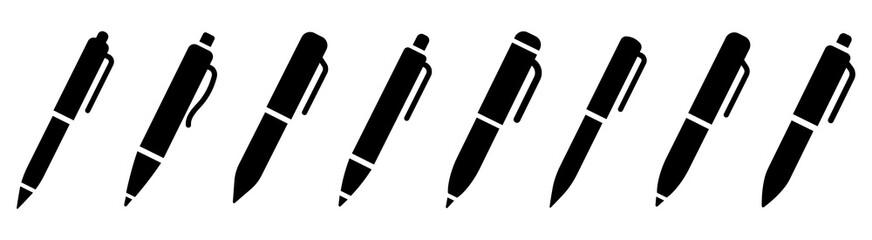 Pen simple icon set. Pen symbol collection. Vector illustration