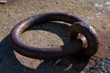 Large Rusted Iron Ring Used Fo...