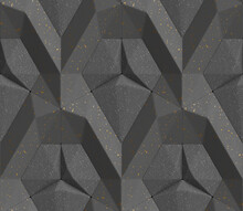 3D Tiles Of Black Color In The...