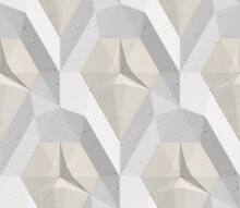 3D Tiles Of White Color In The...