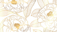Luxury Rose Golden Art Deco Wa...