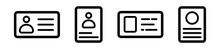 Set Of Identity Card Icons In ...