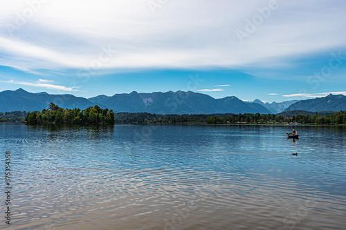 Alpenpanorama am Staffelsee bei Murnau Billede på lærred
