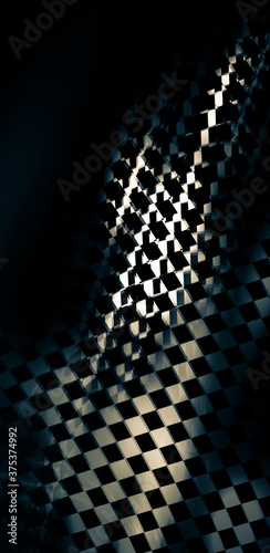 Fototapety, obrazy: Abstract texture. Non-standard geometric solution. Grunge style, there is graininess, blur. The theme of speed, race
