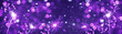 canvas print picture - Silvester / new year background banner panorama long- Purple firework sparklers in the dark blue night with snowflakes snow and bokeh lights