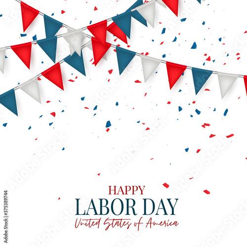 Fototapeta Happy Labor Day banner