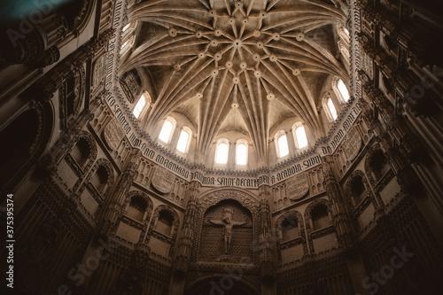 Cuadros en Lienzo Cúpula catedral murcia con ventanales iluminados