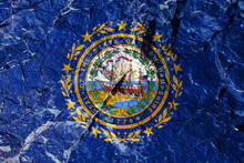USA Flag Of New Hampshire With...