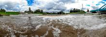 Rzeka Olza W Czasie Wysokiego Stanu Wody, Karwina, Czechy