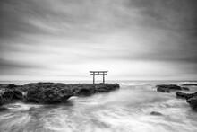 Torii Gate Of The Oarai Isosaki Shrine, Ibaraki Prefecture, Japan