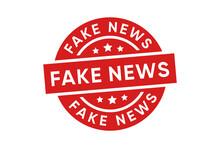 Fake News Stamp Vector Design