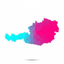 Austria Map Triangle Low Poly ...
