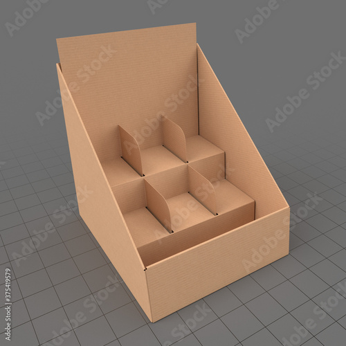 Fototapeta Cardboard product display stand