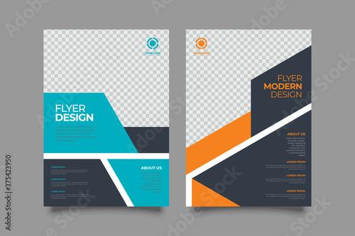 Obraz Template vector design for Brochure, Annual Report, Magazine, Poster, Corporate Presentation, Portfolio, Flyer, layout modern size A4. Vector illustration - fototapety do salonu