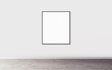 White Blank Poster With Slim F...