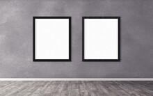Two White Posters With Frame O...