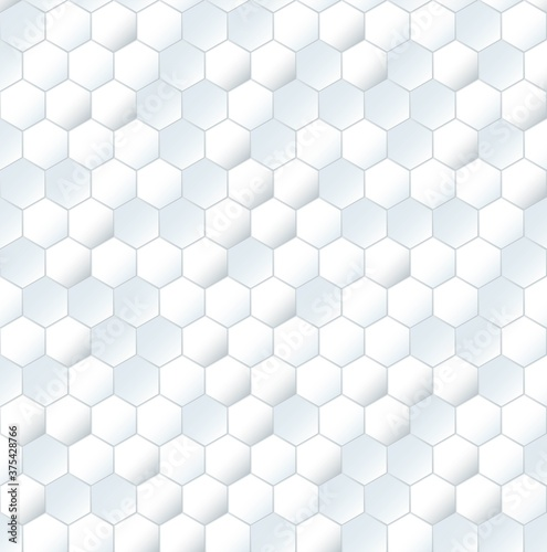 Tapeta Ecru  seamless-white-mesh-honeycomb-pattern-plain-textured-3d-grid-print-for-walls-and-floor-simple-mosaic-background-vector-illustration-transparent-polygon-structure-repeating-ornament
