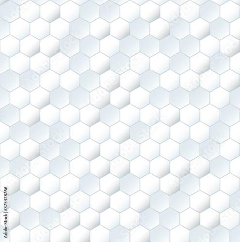 Tapeta Ecru  seamless-white-mesh-honeycomb-pattern-plain-textured-3d-grid-print-for-walls-and-floor-simple