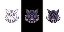 Boar,pig,hog E Sport Mascot Logo Design
