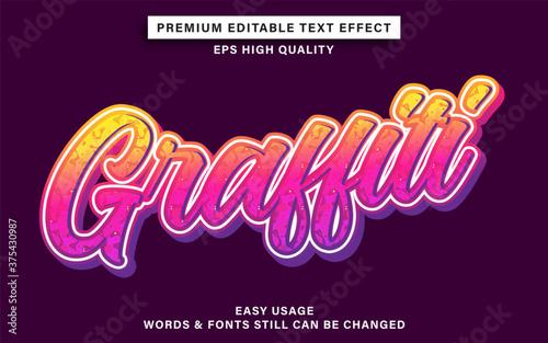 Obraz na plátne Editable font effect graffiti