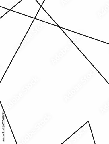 Vertical template with random lines. Simple vector illustration. Canvas Print
