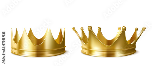 Fotografie, Obraz Golden crowns for king or queen, crowning headdress for Monarch