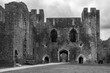 canvas print picture - Burg Caerphilly Castle bei Wales