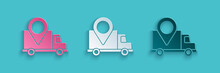 Paper Cut Delivery Tracking Ic...