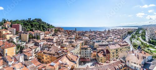 Fotografia, Obraz Panorama sur la baie des anges à Nice depuis le clocher de la tour Saint Françoi