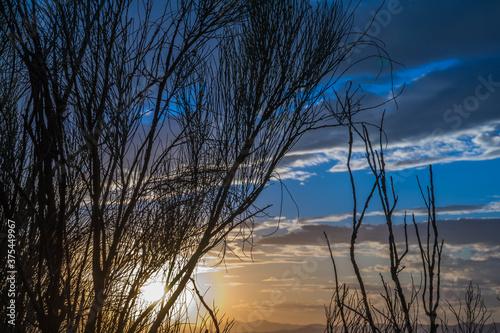 Obraz niebo chmury natura zachód słońca światło widok - fototapety do salonu
