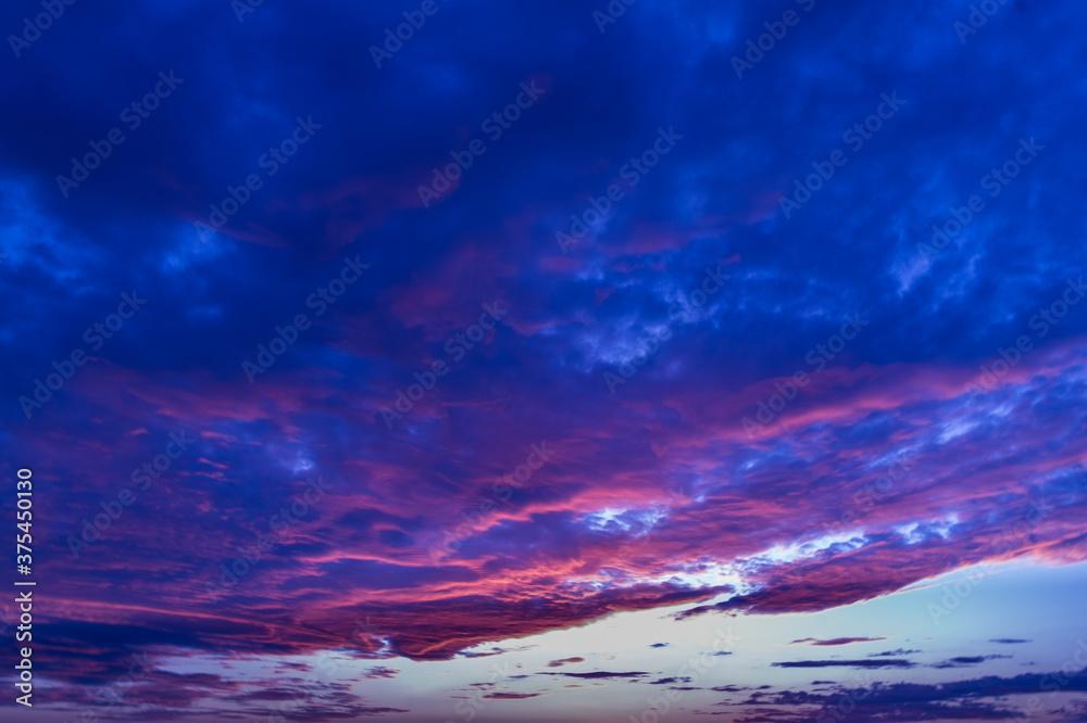 Fototapeta niebo chmury natura zachód słońca światło widok